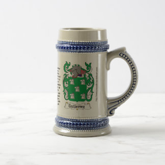 Gutierrez Family Coat of Arms Stein