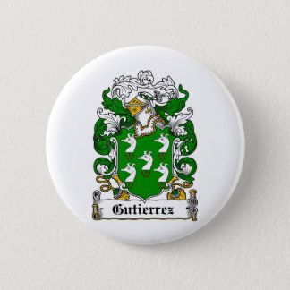 GUTIERREZ FAMILY CREST -  GUTIERREZ COAT OF ARMS PINBACK BUTTON