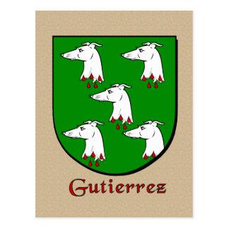 Gutierrez Family Heraldic Shield Postcard