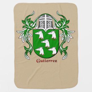 Gutierrez Heraldic Shield and Mantling Baby Blanket