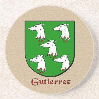 Gutierrez Heraldic Shield Sandstone Coaster