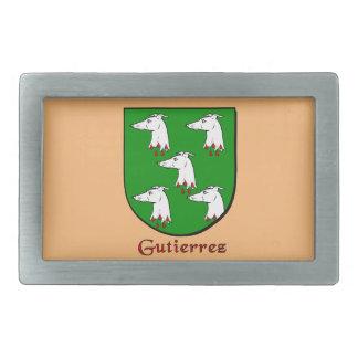 Gutierrez Historical Family Shield Rectangular Belt Buckle