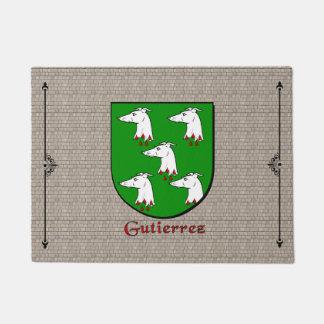 Gutierrez Historical Shield on Cobblestone Doormat