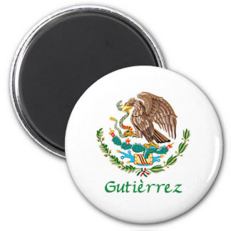 Gutierrez Mexican National Seal 2 Inch Round Magnet