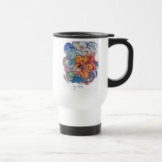 """""""Guts"""" Abstract Painting Travel Mug"""