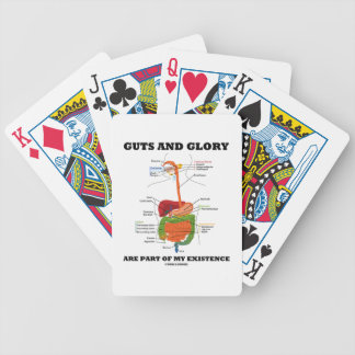 Guts And Glory Are Part Of My Existence Bicycle Playing Cards