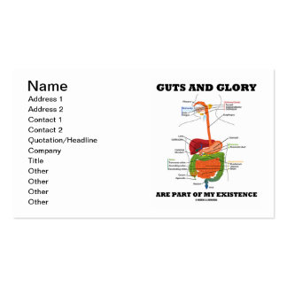 Guts And Glory Are Part Of My Existence Business Card