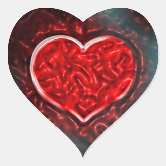 Gutsy Valentine Heart Sticker