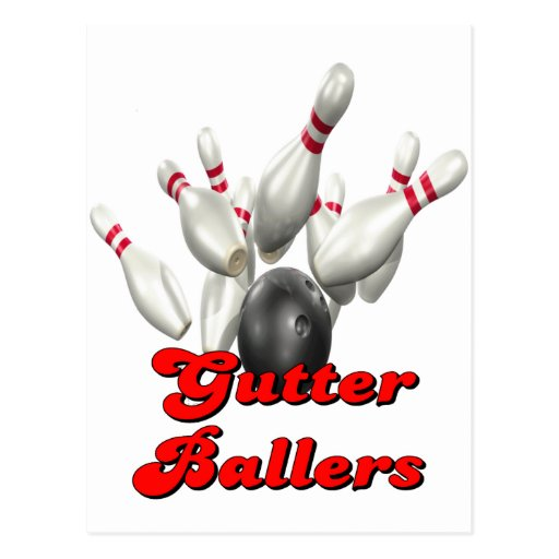 Gutter Ballers Postcard