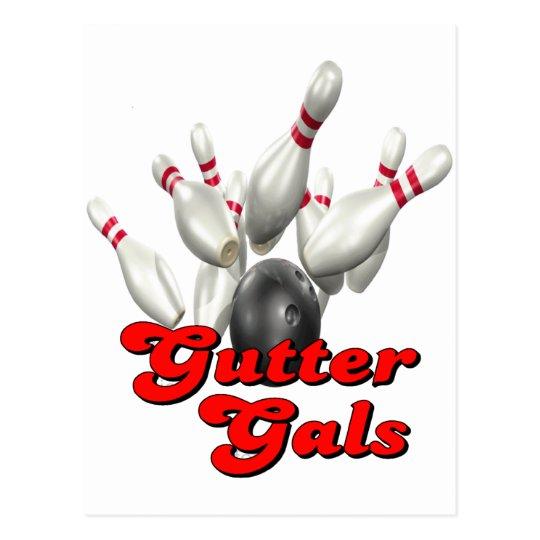 Gutter Gals Bowling Postcard