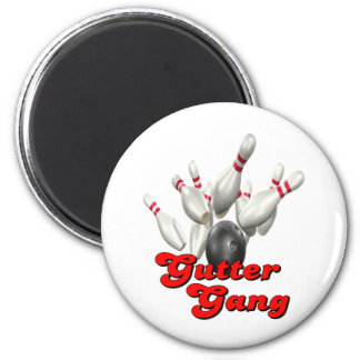 Gutter Gang Bowling 2 Inch Round Magnet