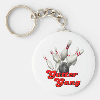 Gutter Gang Bowling Basic Round Button Keychain