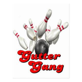 Gutter Gang Bowling Postcard