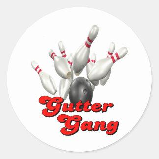 Gutter Gang Bowling Classic Round Sticker
