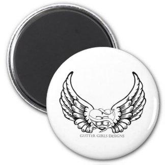 Gutter Girls Designs button 2 Inch Round Magnet