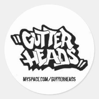 GUTTER-LOGO, myspace.com/gutterheads - sticker