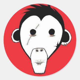 Gutter Monkey Sicker : Green Classic Round Sticker