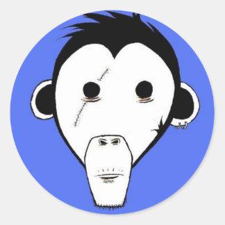 Gutter Monkey Sticker : Blue