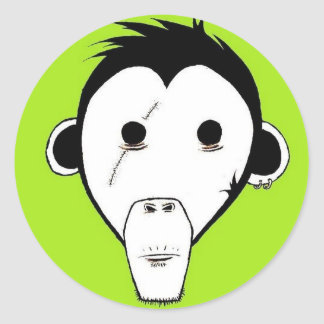 Gutter Monkey Sticker : Green