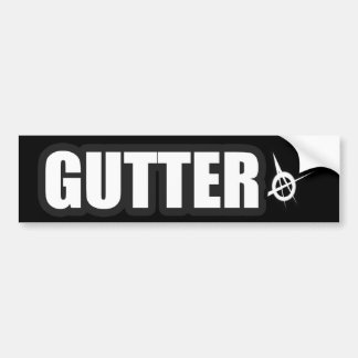 GUTTER punk guys girls punk rock punkrock music Bumper Sticker