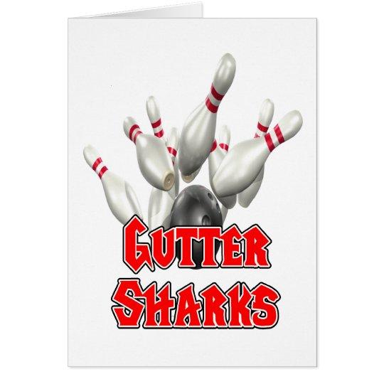 Gutter Sharks Bowling Card