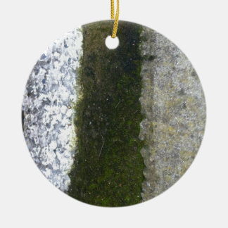 Gutter Trash -- Slime with concrete gutter. Ceramic Ornament