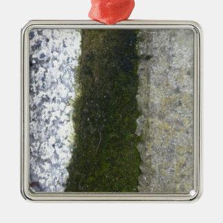 Gutter Trash -- Slime with concrete gutter. Metal Ornament