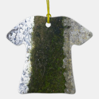 Gutter Trash -- Slime with concrete gutter. Double-Sided T-Shirt Ceramic Christmas Ornament