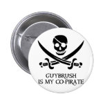 Guy Brush is My Co-Pirate Button