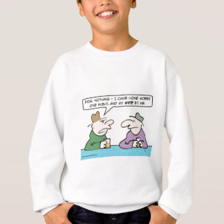 Guy came home sober and his wife bit him. sweatshirt