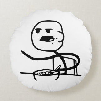 Guy cereal round pillow