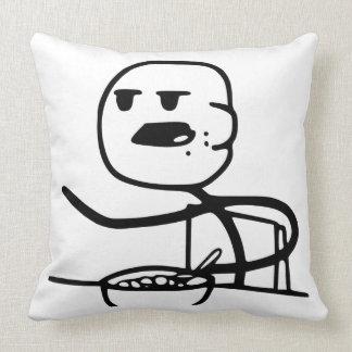 Guy cereal throw pillow