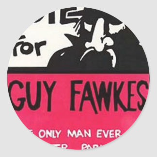 Guy Fawkes campaign Round Sticker