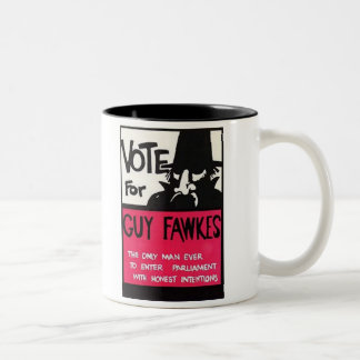 Guy Fawkes campaign Two-Tone Coffee Mug
