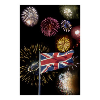 Guy Fawkes night fireworks poster