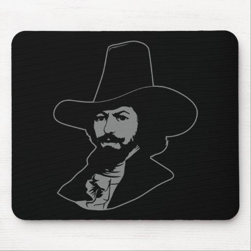 Guy Fawkes Portrait Mousepad