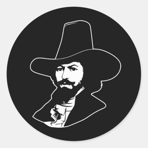 Guy Fawkes Portrait Sticker