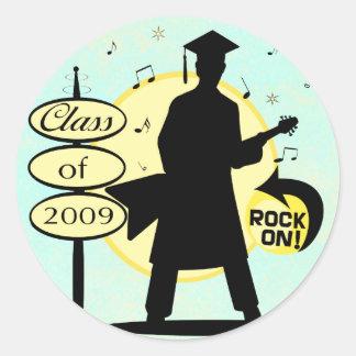 Guy Graduation 2009 Grad Classic Round Sticker