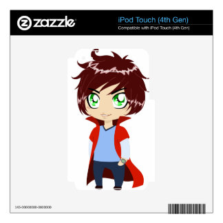 Guy In Blue Clothes Wearing Red Cape Decal For iPod Touch 4G