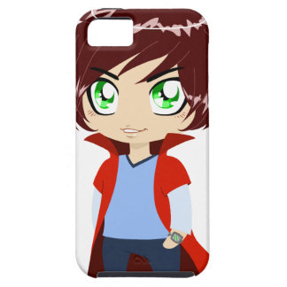 Guy In Blue Clothes Wearing Red Cape iPhone SE/5/5s Case