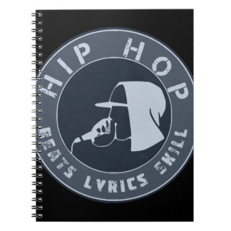 GUY IN HOODIE RAPPING ON THE MIC NOTEBOOK