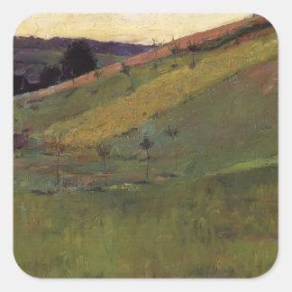 Guy Rose- Giverny Hillside Square Sticker