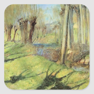 Guy Rose- Giverny Willows Square Sticker