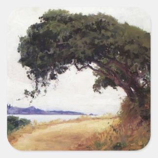 Guy Rose- Point Lobos, Oak Tree Square Sticker