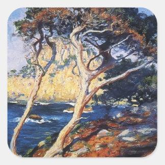 Guy Rose- Point Lobos Trees Square Sticker