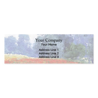 Guy Rose- Poppy Field Business Card Template