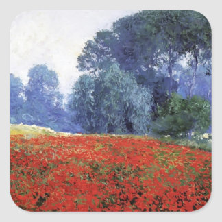 Guy Rose- Poppy Field Square Sticker