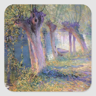 Guy Rose- River Epte, Giverny Square Sticker