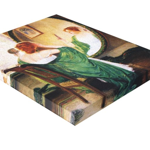 Guy Rose- The Green Mirror Stretched Canvas Print