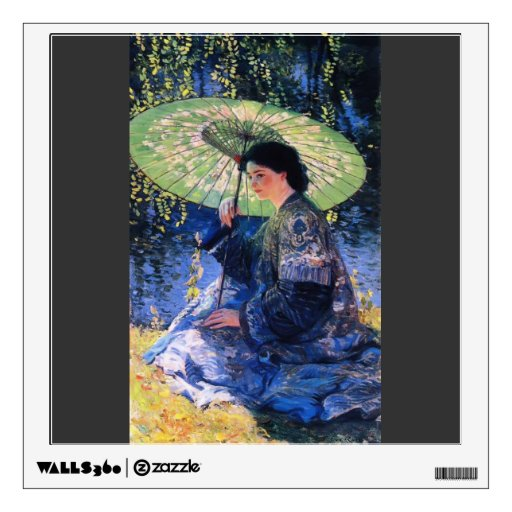 Guy Rose- The Green Parasol Wall Stickers